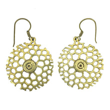 Load image into Gallery viewer, Honeycomb Bomb Earrings
