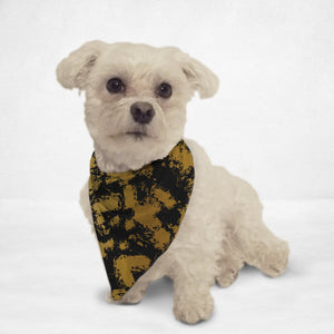 Black & Gold Distressed Pet Bandana