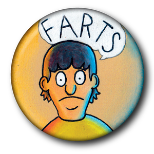 Gene from Bob's Burgers Magnet or Button