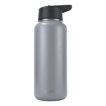 Load image into Gallery viewer, DRINCO® 32oz Stainless Steel Water Bottle (3 lids) - Asphalt Gray