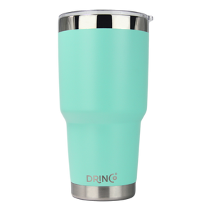 DRINCO® 30oz Insulated Tumbler Spill Proof Lid w/2 Straws (Teal)