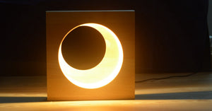 Beechwood Moon Lamp Full & Half Moon