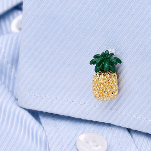 Golden Pineapple Cufflinks