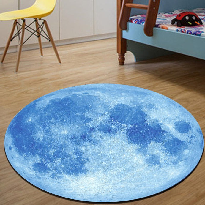 Moon Carpet in Blue & Grey