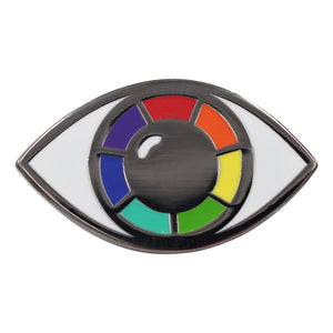Queer Eye Rainbow Evil Eye Enamel Pin