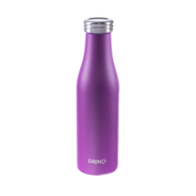 Load image into Gallery viewer, DRINCO® 17oz Stainless Steel Slim Water Bottle - Deep Purple