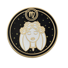 Load image into Gallery viewer, Virgo Astrological Sign Enamel Pins