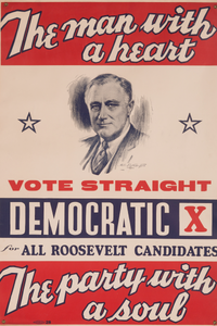 HIGH-QUALITY POSTER PRINT -- Roosevelt Democrat -- Look