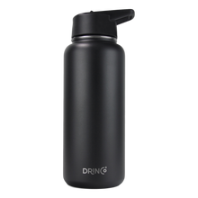 Load image into Gallery viewer, DRINCO® 32oz Stainless Steel Water Bottle (3 lids) - Black