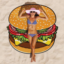 Load image into Gallery viewer, Hamburger Beach Towel