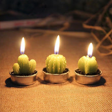 Load image into Gallery viewer, Cactus Candle Set-- 6 pieces