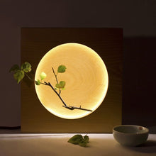 Load image into Gallery viewer, Beechwood Moon Lamp Full & Half Moon