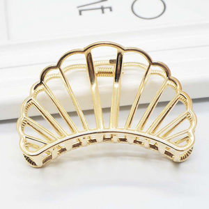 Mermaid Shell Metal Hair Clip