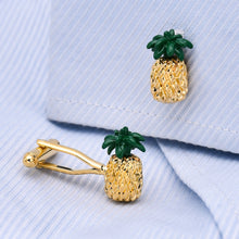 Load image into Gallery viewer, Golden Pineapple Cufflinks