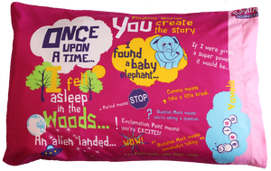 Pink Playtime Storytime Pillowcase