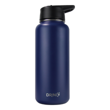 Load image into Gallery viewer, DRINCO® 32oz Stainless Steel Water Bottle (3 lids) - Royal Blue
