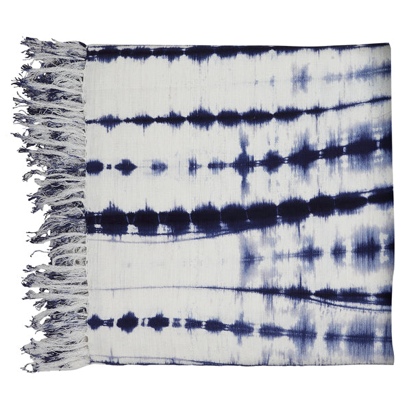 Azure Tie Dye Throw, Indigo 54 x 84 inch