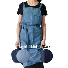 Load image into Gallery viewer, Karuilu Adjustable Durable All Cotton Denim Apron