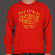 Load image into Gallery viewer, Into Fitness, Fitness Entire Pizza Into My Mouth Sweatshirt