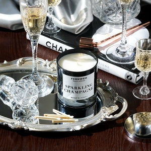 Sparkling Champagne Scented Soy Wax Candle