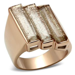 GL231 IP Rose Gold(Ion Plating) Brass Ring with