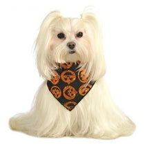 Load image into Gallery viewer, Glitter Pumpkin Pet Bandana