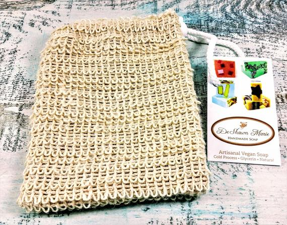 Sisal Soap Saver Sack,  Exfoliating Soap Bag, Soap