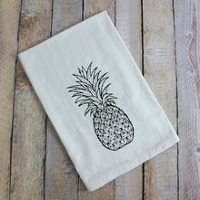 Load image into Gallery viewer, Pineapple Hospitality Flour Sack Tea Towel