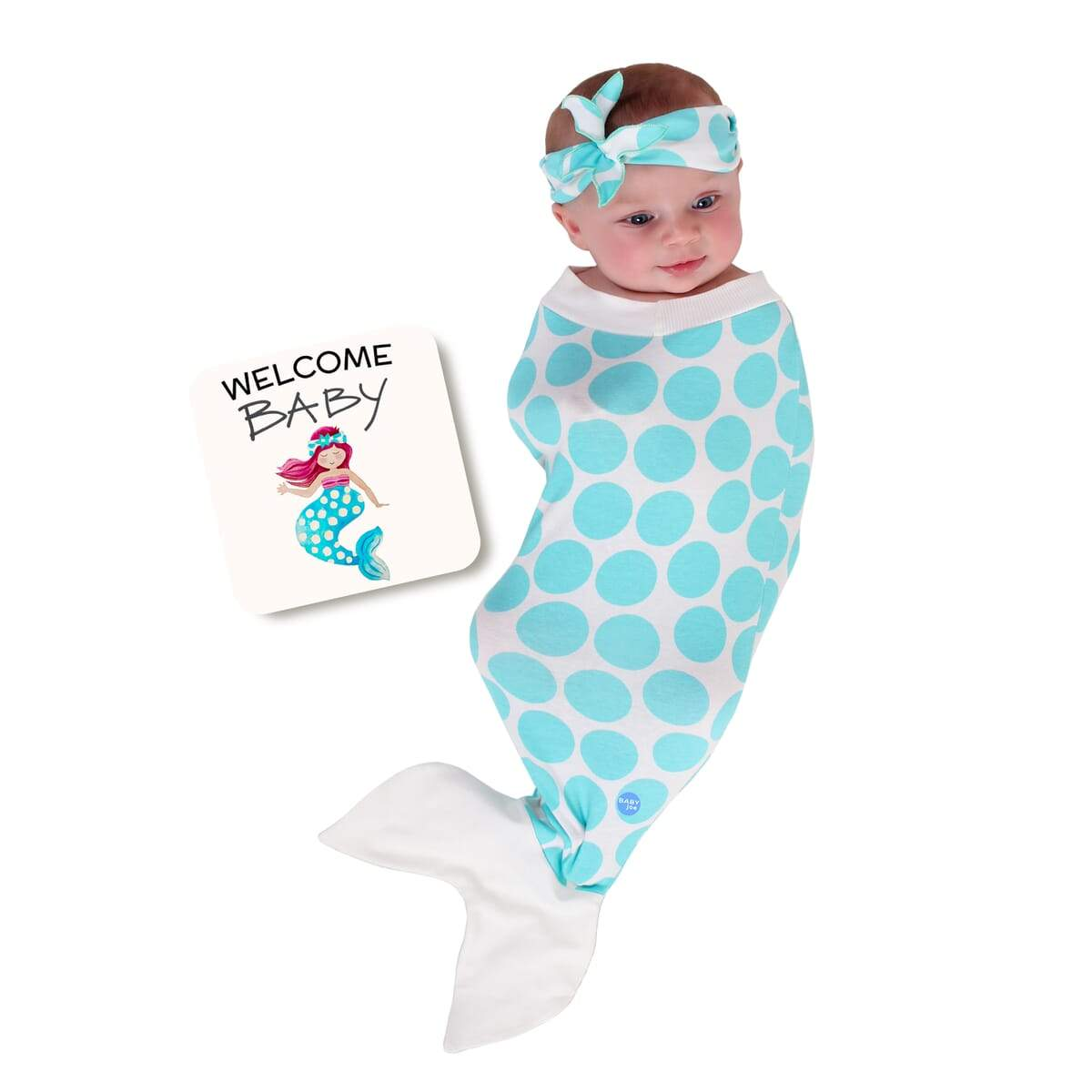 Mermaid Baby Wrap and Book Set