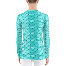 Load image into Gallery viewer, Baby Blue Mermaid Rash Guard Top
