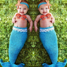 Load image into Gallery viewer, Crochet Newborn Baby Costume Mermaid