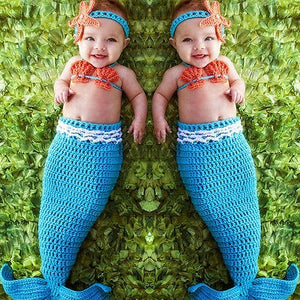 Crochet Newborn Baby Costume Mermaid