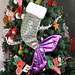 Reversible Sequin Mermaid Tail Christmas Stocking
