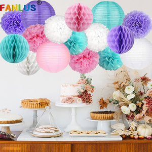 Paper Pom Poms Artificial Flowers Party Decoration