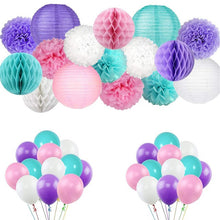 Load image into Gallery viewer, Paper Pom Poms Artificial Flowers Party Decoration