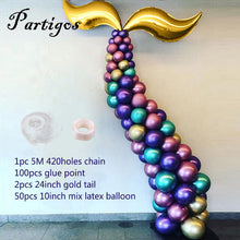 Load image into Gallery viewer, DIY Mermaid Tail Balloon Garland Latex Balloons Arch 54PCS