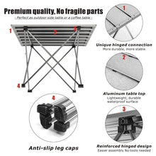 Load image into Gallery viewer, Portable Folding Camping Table