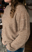 Load image into Gallery viewer, Mocha Bubble Sleeve Sweater
