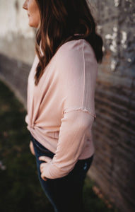 Dusty Pink Knotted Long Sleeve