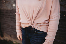 Load image into Gallery viewer, Dusty Pink Knotted Long Sleeve