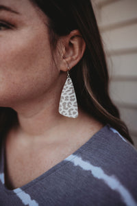 Grey Leopard Earrings