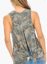 Load image into Gallery viewer, Camo Tie Back Tank