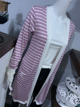 Load image into Gallery viewer, Lavender & White Striped Cardigan