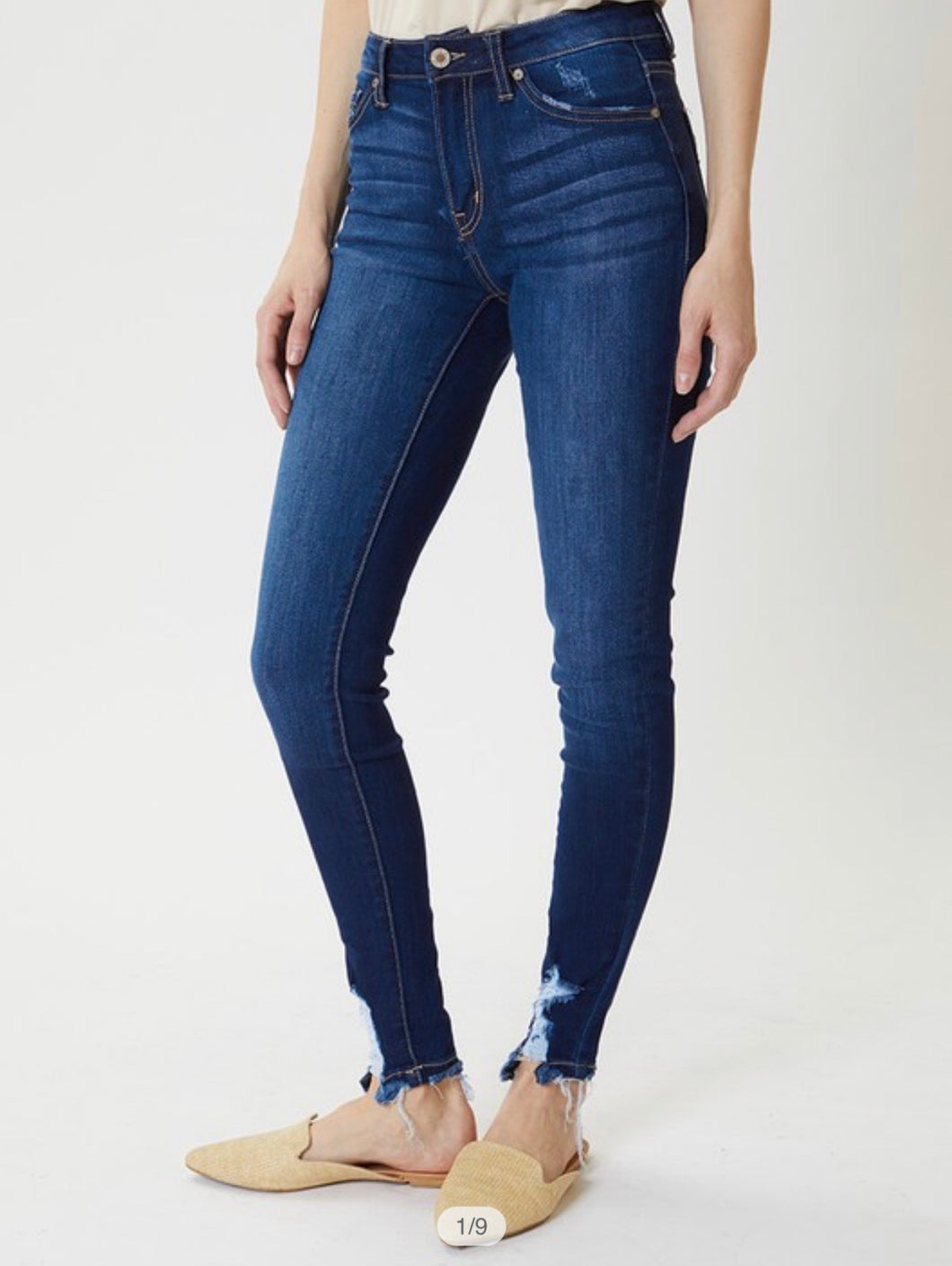 Super Skinny Bottom Distress Detail - KanCans - High Rise