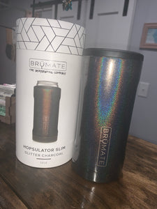 Charcoal Slim Can Coozie