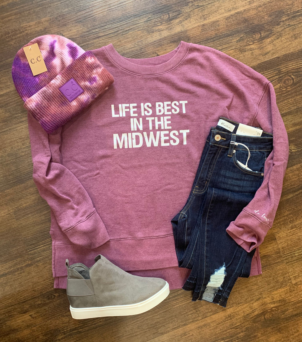 Life Is Best In The Midwest Sweatshirt