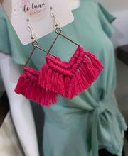 Load image into Gallery viewer, Macrame Earrings - 6 colors available