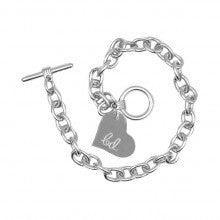 Charm Bracelet with Heart Tag