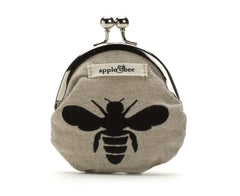 Coin Purse Hemp Bee