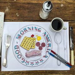 the eatsleepdoodle placemats - set of 4